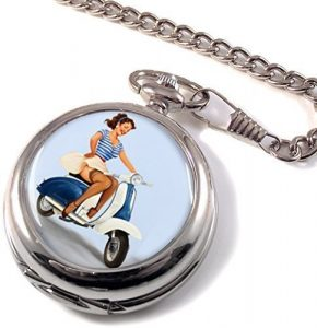 Reloj pin up de bolsillo